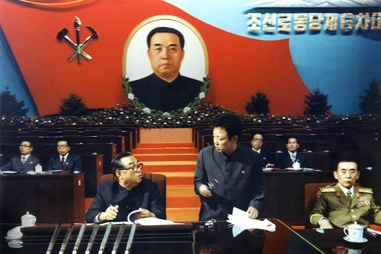 Kim Il Sung and Kim Jong Il at the Sixth Workers Party Congress, 1980 | Image: Wikipedia/PD