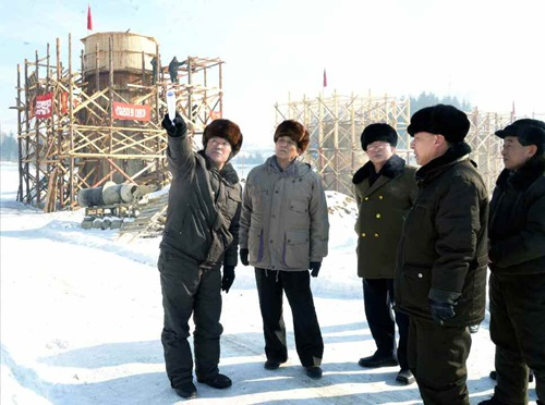 Pak Pong Ju at Paektusan Youth Hero Power Station